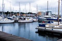 Ruhiger Hafen in England Stockfoto