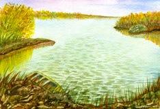 Ruhiger Herbstsee Lizenzfreies Stockbild
