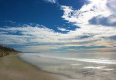 Ruhiger Strand Stockfoto