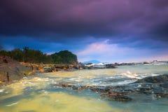 Ruhiger Strand von kemasik kemaman Lizenzfreie Stockfotografie