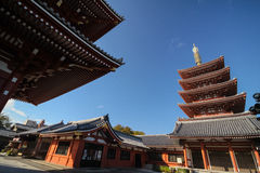 Ruhiger Tempel in Japan Lizenzfreies Stockfoto