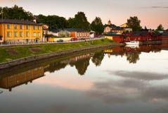 Ruhiger warmer Sommerabend in Porvoo. Lizenzfreies Stockbild
