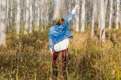 ruhiger Weg durch den Wald Stockfoto