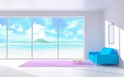 Ruhiger weißer Innenraum Stockbilder