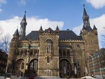 Ruhiges Aachen an den letzten Tagen des Winters lizenzfreies stockfoto