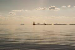 Ruhiges adriatisches Meer Stockfotografie