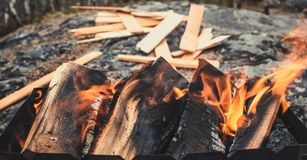 Ruhiges Feuer Stockfoto