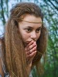 Ruhiges junges Mädchen Lizenzfreie Stockfotos
