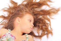 Ruhiges kleines Mädchen Lizenzfreie Stockbilder