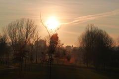 Ruhiges Leben des Sonnenaufgangs in einem Naturpark, Landschaft bei Sonnenuntergang lizenzfreie stockfotografie