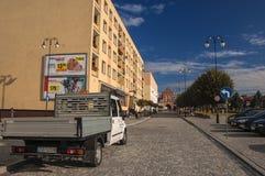 Ruhiges Leben einer Kleinstadt Stockfotografie