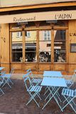 Ruhiges nettes französisches caffee stockbild