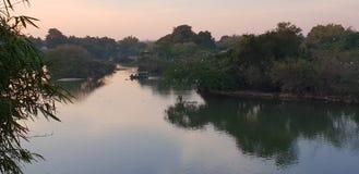 Ruhiges und ruhiges Wasserschongebiet von Ranganathittu stockfotos