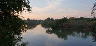 Ruhiges und ruhiges Wasserschongebiet von Ranganathittu stockbilder