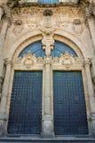 Ruhm-Tür-Kathedrale Santiago de Compostela, Spanien Lizenzfreie Stockfotos