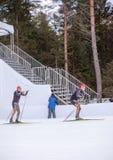 Ruhpolding, Γερμανία, 2016/01/06: κατάρτιση πριν από το Παγκόσμιο Κύπελλο Biathlon σε Ruhploding Στοκ εικόνα με δικαίωμα ελεύθερης χρήσης