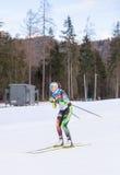 Ruhpolding, Allemagne, 2016/01/06 : formation avant la coupe du monde de biathlon dans Ruhploding Photographie stock