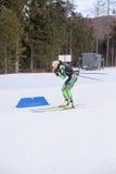 Ruhpolding, Allemagne, 2016/01/06 : formation avant la coupe du monde de biathlon dans Ruhploding Photo libre de droits