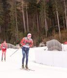 Ruhpolding, Germania, 2016/01/06: preparandosi prima della coppa del Mondo di biathlon in Ruhploding Immagini Stock Libere da Diritti