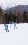 Ruhpolding, Germania, 2016/01/06: preparandosi prima della coppa del Mondo di biathlon in Ruhploding Fotografia Stock Libera da Diritti