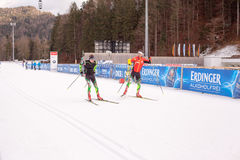 Ruhpolding, Germany, 2016/01/06: training before the Biathlon World Cup in Ruhploding Royalty Free Stock Image