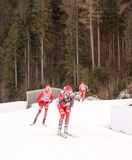 Ruhpolding, Germany, 2016/01/06: training before the Biathlon World Cup in Ruhploding Royalty Free Stock Photography