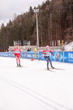 Ruhpolding, Germany, 2016/01/06: training before the Biathlon World Cup in Ruhploding Stock Images