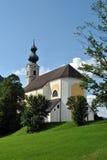 Ruhpolding-Kirche Stockfotografie