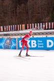 Ruhpolding, Niemcy, 01 06 2016: Norweski biathlete przed Biathlon pucharem świata w Ruhploding Obraz Stock