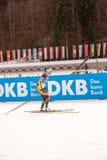 Ruhpolding, Niemcy, 01 06 2016: Rosyjski biathlete w pubie przed Biathlon pucharem świata w Ruhploding Obraz Royalty Free