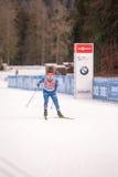 Ruhpolding, Niemcy, 2016/01/06: trenować przed Biathlon pucharem świata w Ruhploding Obrazy Stock