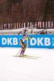 Ruhpolding, Niemcy, 2016/01/06: trenować przed Biathlon pucharem świata w Ruhploding Fotografia Royalty Free