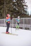 Ruhpolding, Niemcy, 2016/01/06: trenować przed Biathlon pucharem świata w Ruhploding Fotografia Stock