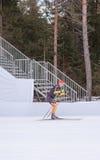 Ruhpolding, Niemcy, 2016/01/06: trenować przed Biathlon pucharem świata w Ruhploding Zdjęcia Stock