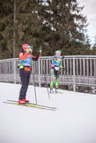 Ruhpolding Tyskland, 2016/01/06: utbildning för Biathlonvärldscupen i Ruhploding Arkivbild