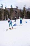 Ruhpolding Tyskland, 2016/01/06: utbildning för Biathlonvärldscupen i Ruhploding Royaltyfri Bild