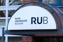 Ruhr university bochum sign in bochum  germany stock photo