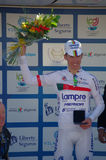Rui Alberto Costa. Finished 2nd the first stage of the Volta ao Algarve 2014 - his first race in Portugal as defending UCI Road World Champion Royalty Free Stock Photography