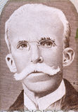 Rui Barbosa. (1849-1923) on 10 Cruzados 1987 Banknote from Brazil. Brazilian writer, jurist, and politician Stock Photos