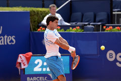 Rui Machado (tennis player from Portugal) plays at the ATP Barcelona Stock Photography