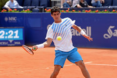 Rui Machado (tennis player from Portugal) plays at the ATP Barcelona Royalty Free Stock Photography