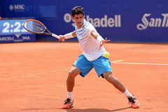 Rui Machado (tennis player from Portugal) plays at the ATP Barcelona Open Stock Photo