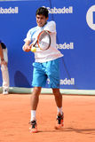 Rui Machado (tennis player from Portugal) plays at the ATP Barcelona Open Banc Sabadell Conde de Godo Stock Image