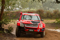 Rui Sousa drives a Isuzu D-Max Royalty Free Stock Images