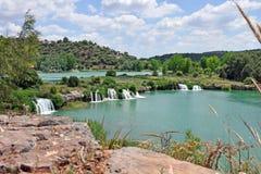 ruidera för de lagunas naturpark spanisch Royaltyfria Bilder