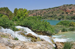 ruidera för de lagunas naturpark spanisch Arkivbilder