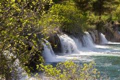 Ruidera National Park Waterfalls. Ruidera National Park Spain waterfalls Royalty Free Stock Photo