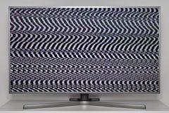 Ruido análogo en la TV digital fotografía de archivo
