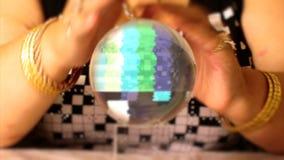 Ruido de la TV en la bola de cristal almacen de video