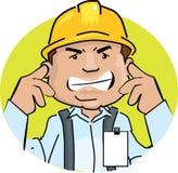 Ruido del trabajador stock de ilustración